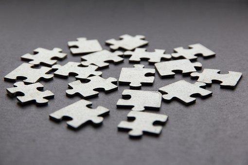 Puzzle, Black And White Photo, Bw, Dark, Background