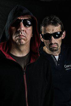Gangsters, Faces, Men, Portrait, Specs, Sunglasses
