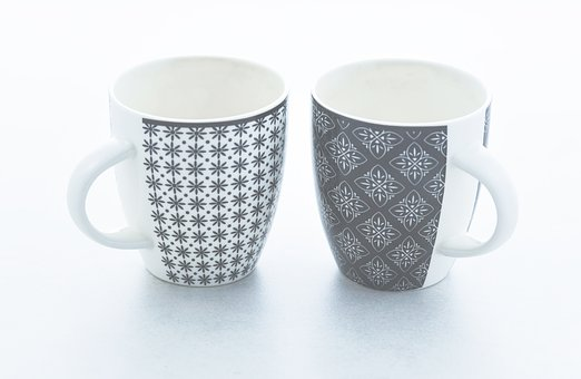 Cups, Faded, Bleached, Light, Space, Soft, Pastel