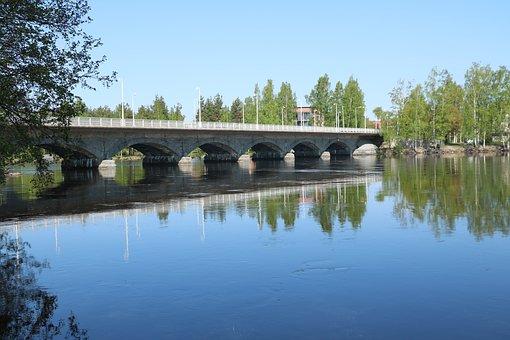 Finnish, Sastamala, Bridge, Vammaskoski, Iron Water