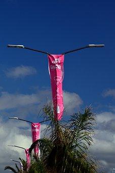Giro, Giro D Italia, Flags, Race, Cycling Races, Lamps