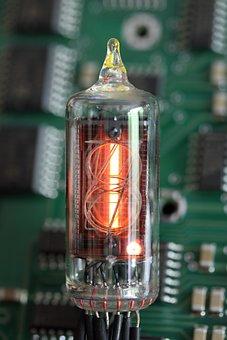 Nixie, Tube, Indicator, Vacuum, Digit, Glass