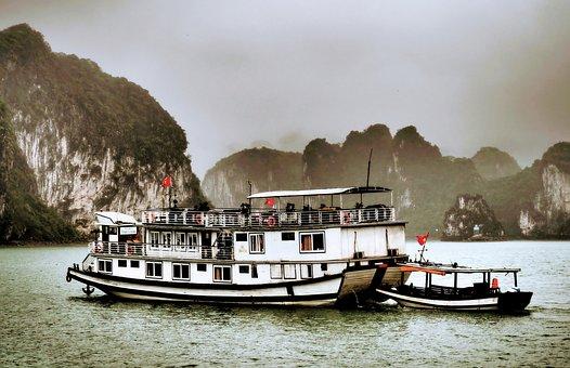 Viet Nam, Halong Bay, Asia, Boat, Landscape, Sea, Ship