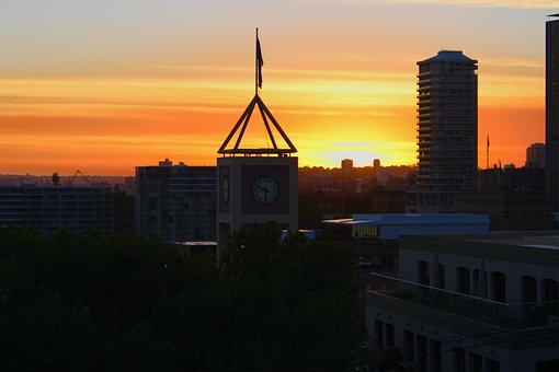 City, Sunrise, Harbor Bridge, Sydney, Australia