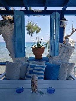 Blue, Holiday, Greece, Summer