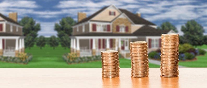 Real Estate, House, House Purchase, Save, Money, Coins