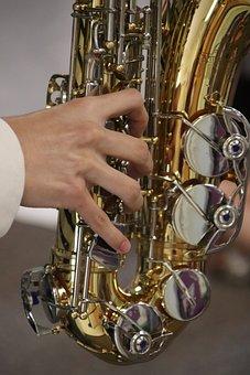 Saxophone, Sax, Jazz, Instrument, Play, Band, Music