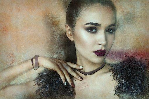 Concrete Wall, Loft, Girl, Model, Bracelets, Choker