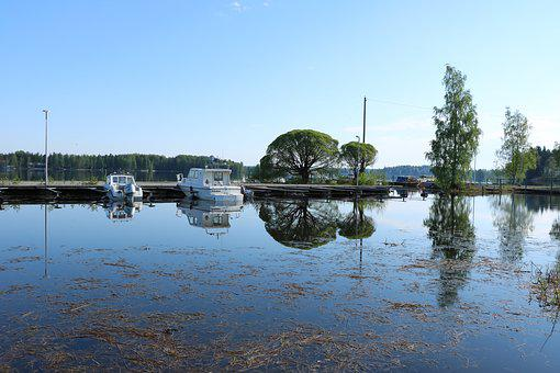 Finnish, Sastamala, Lake, Iron Water, Marina, Port
