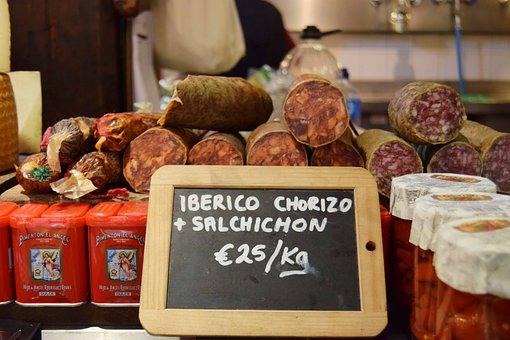 Sausage, Iberian Chorizo, Paella, Sausages, Meat