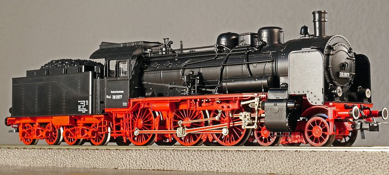Steam Locomotive, Person Locomotive, Model, Scale H0