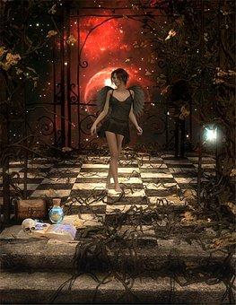 Mystery, Magic, Women, Fantasy, Background, Digital Art