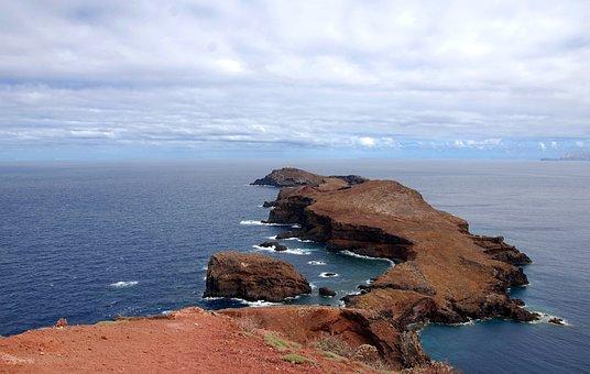 Ocean, Cliff, Rocks, Water, Landscape, View, Summer