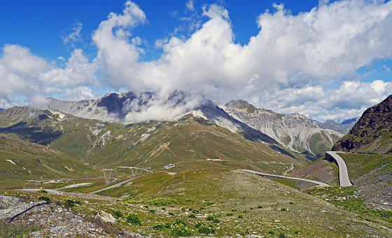 Pass Roads In The High Mountains, Stelvio Yoke