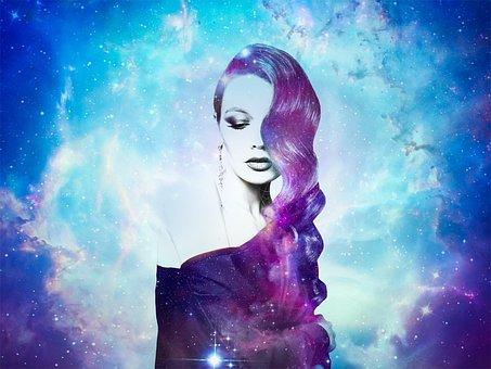 Galaxy, Women, Photoshop, Portrait, Digital Art