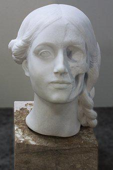 Head, Woman, Marble, Portrait, Transience, Beauty