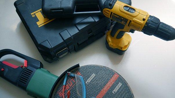 Tools, Drill, Equipment, Repair, Home, Screwdriver, Set