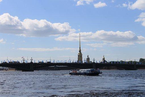 St Petersburg Russia, Russia, Summer, Neva, River