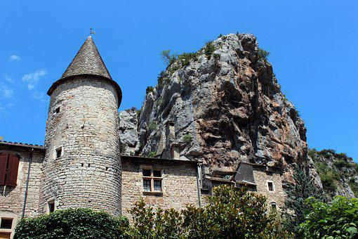 History, South Of France, Rocks, House In Rock