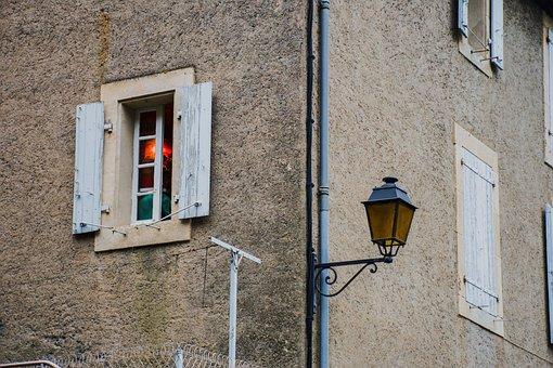 Window, Shutter, Street Lamp, Lamp, Light, Facade