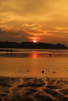 Sunset, Landscape, Nature, Sky, Outdoor, Sun, Sunlight
