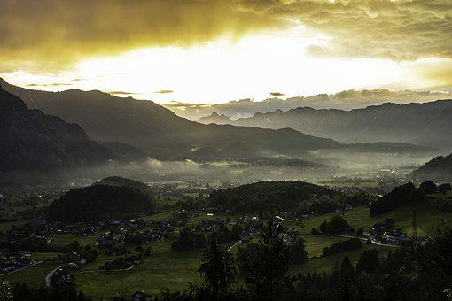 Alps, Mountains, Landscape, After The Storm, Sunset