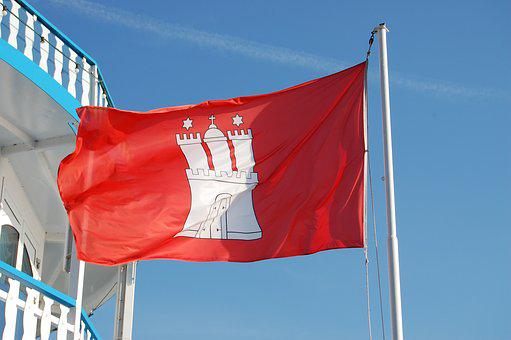 Hamburg, Flag, Symbols, Windy