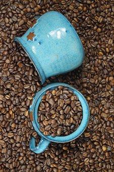 Coffee Cup, T, Coffee Beans, Ceramic, Roasted, Caffeine