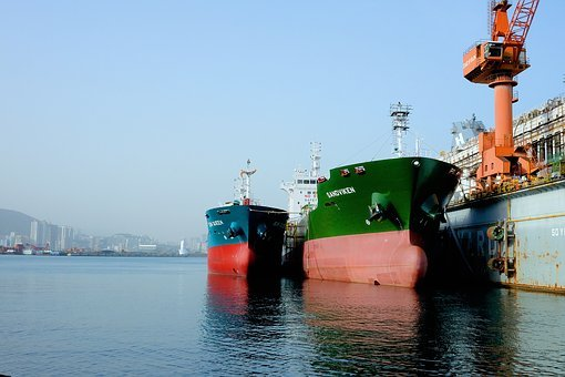 Ship, Port, Times, Sea, Fishing Boats, Sky, Beach