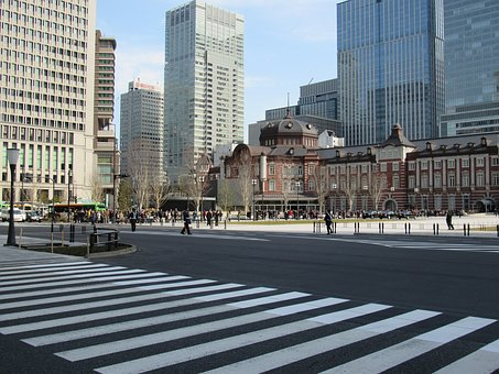Japan, Tokyo, Tokyo Station, Spring, City