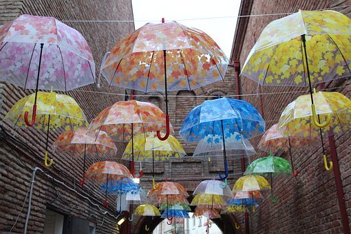 Umbrellas, Art, Gallery, Decor, Decoration, Umbrella