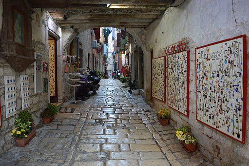 Croatia, Street Image, Urban, Street, Architecture