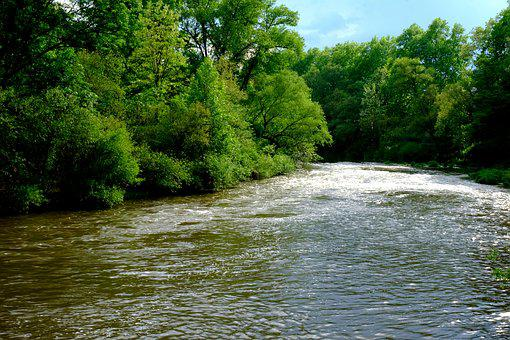 River, Near, Water, Atmospheric, Landscape, Nature