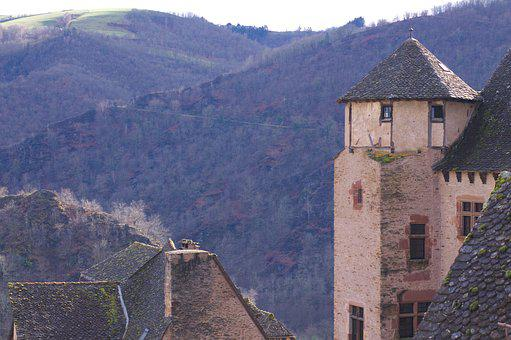 Conques, Medieval, Village, Abbey, Aveyron, France