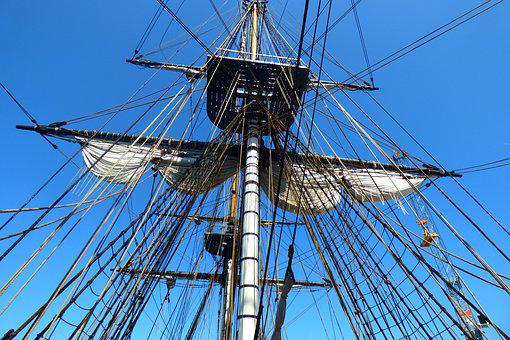 Boat, Sailing, Rope, Sailboat, Frigate, Old Rigs, Mats