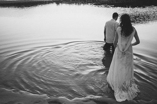 Casal, Beach, Love, Romantic, Boyfriends, Sand, Grooms