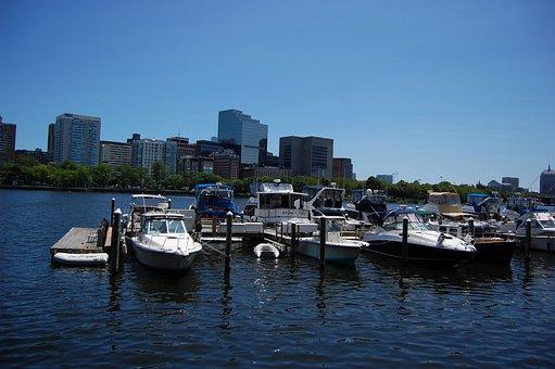 Boston, Harbor, Boats, Massachusetts, Skyline, City