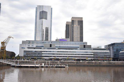 Buenos Aires, River, Hotels, City, Buildings, Port