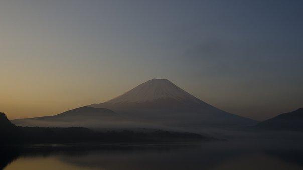 Mt Fuji, Early Morning, Winter, Cloud