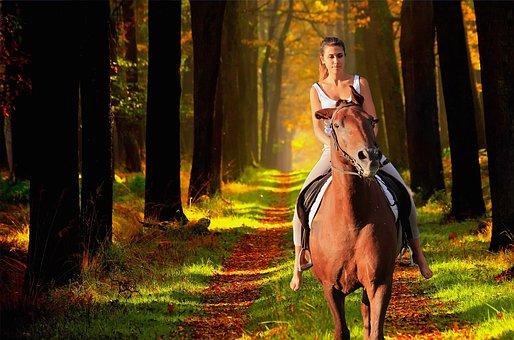 Horse, Girl, Enchantment, Animals, Nature, Foal, Animal