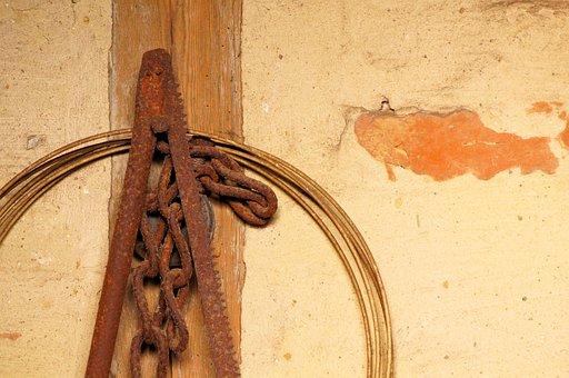 Still Life, Barn, Farm, Hof, Saw, Stainless, Iron