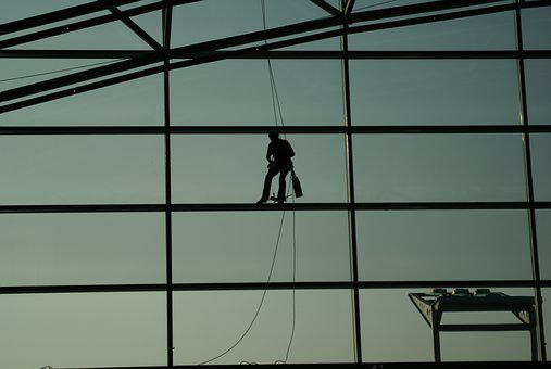 Glass, Window, Airport, Cleaning