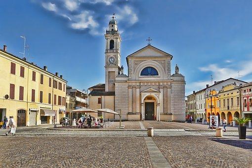 Travel, Italy, Brescello, City, Architecture