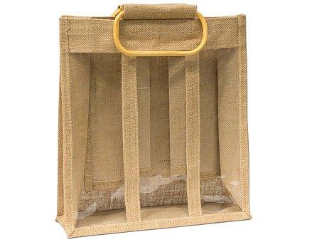 Jute The Bottle Bag, Jute Promotional Bag, Jute Bags