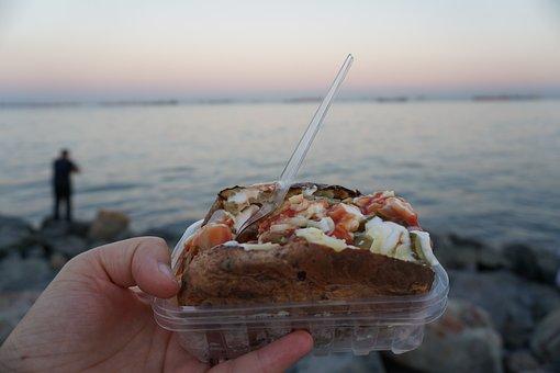 Marine, See, Horizon, Beach, Istanbul, Turkey, Sunset