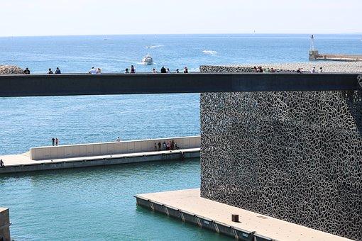 Mucem, Marseille, Sky, Architecture, Museum, Monument