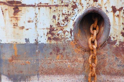Ship, Anchor, Chain, Ship Anchor, Metal, Stainless