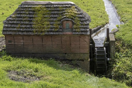 Water Mill, Miniature, Water, Mill Wheel