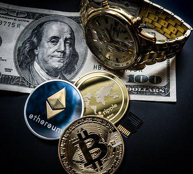 Cryptocurrency, Concept, Blockchain, Money, Currencies