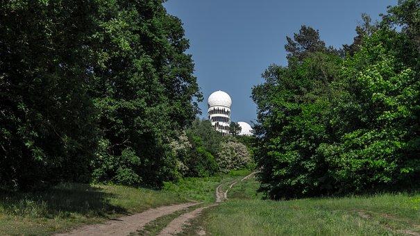 Nature, Trees, Radar Station, Landscape, Abandoned